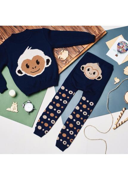 Свитер Литл обезьянка, синий