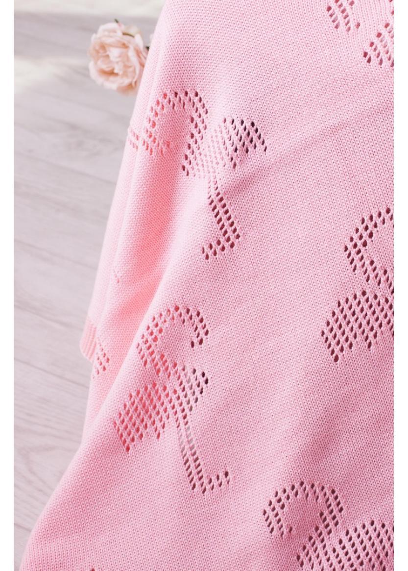 Плед Фламинго, персиковый