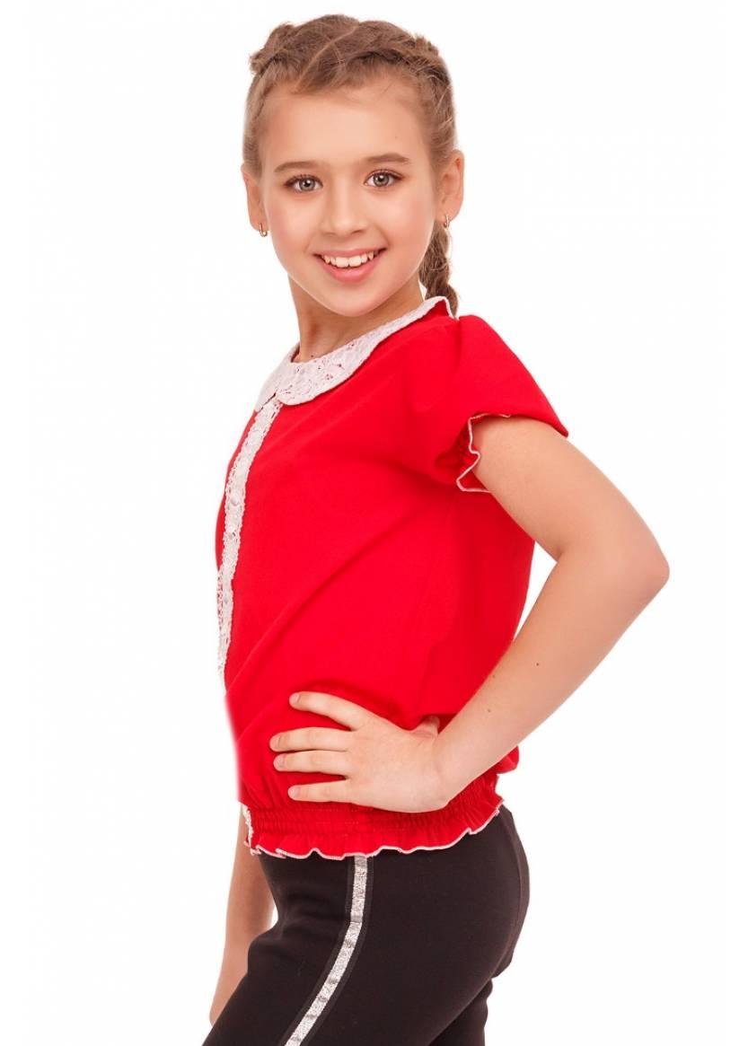 Блуза Адрия, красный