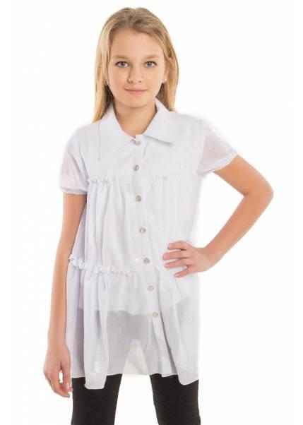 Блуза Разлетайка, белый