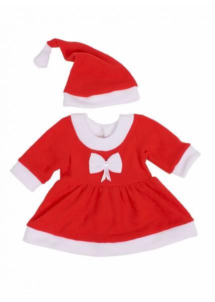 Костюм Санта девочка, красный