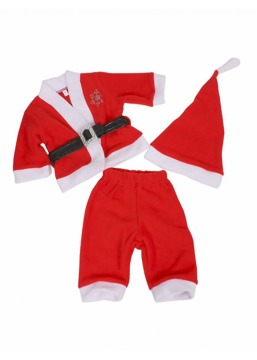 Костюм Санта мальчик, красный