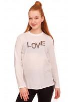 Лонгслив Love, белый
