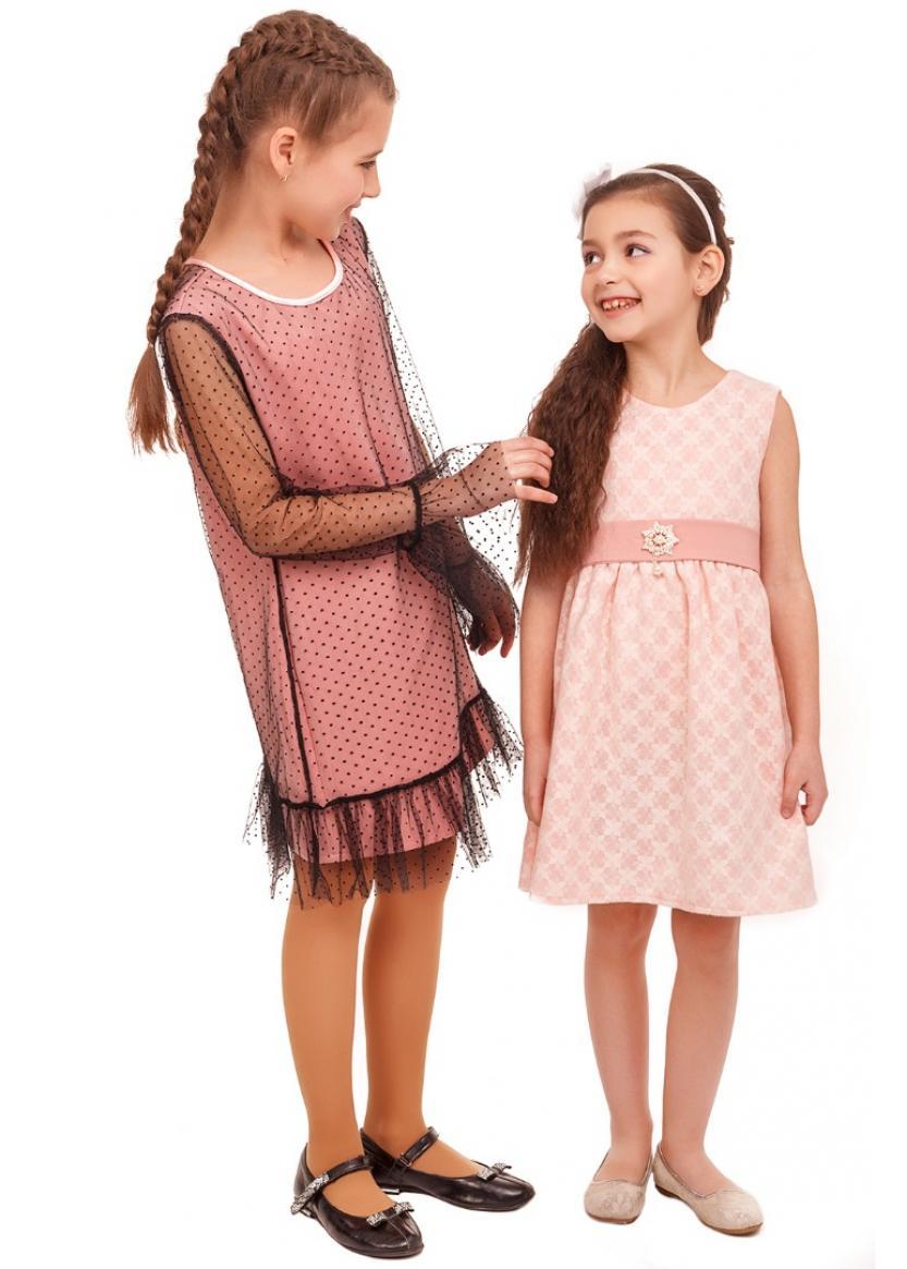 Платье Альбина, персиковый