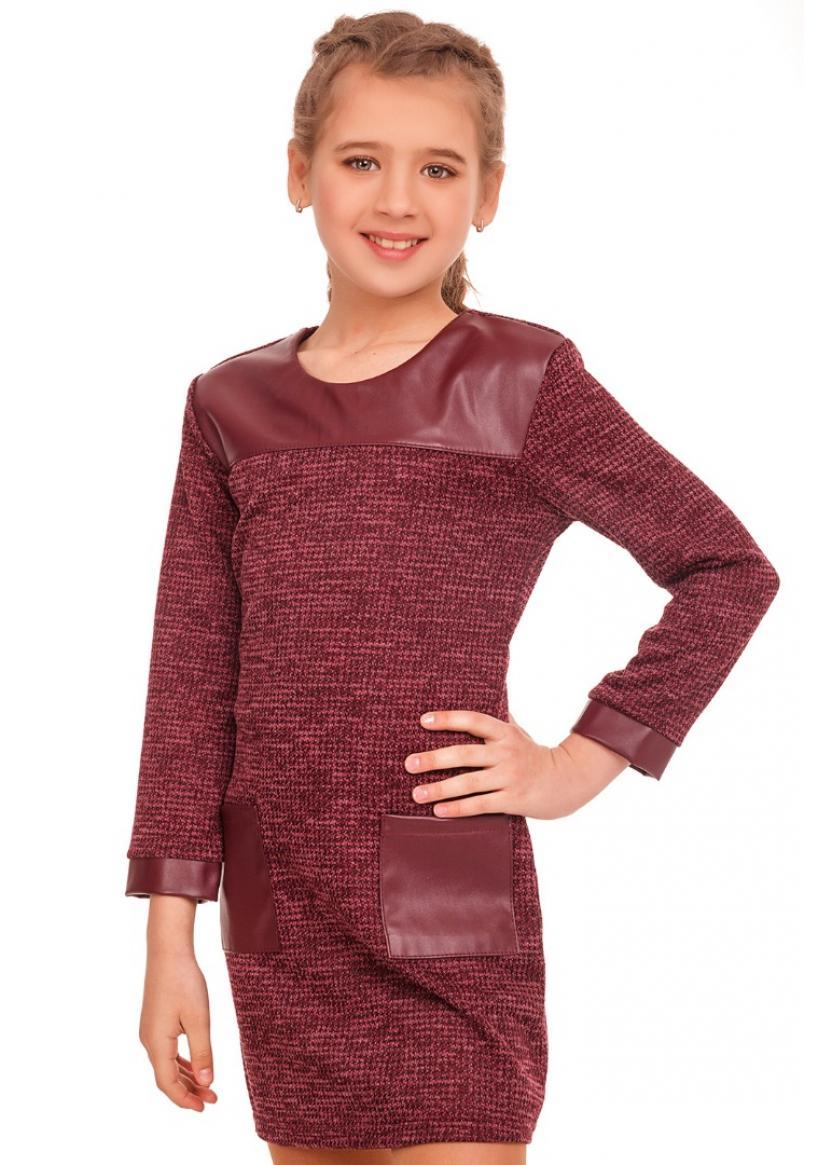 Платье Дакота, бордовый