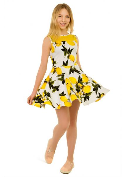 Платье Лайм, белый