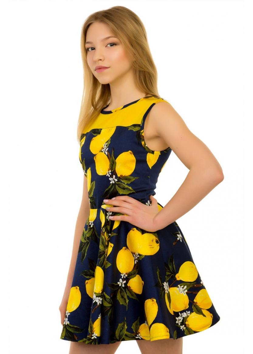 Платье Лайм, синий