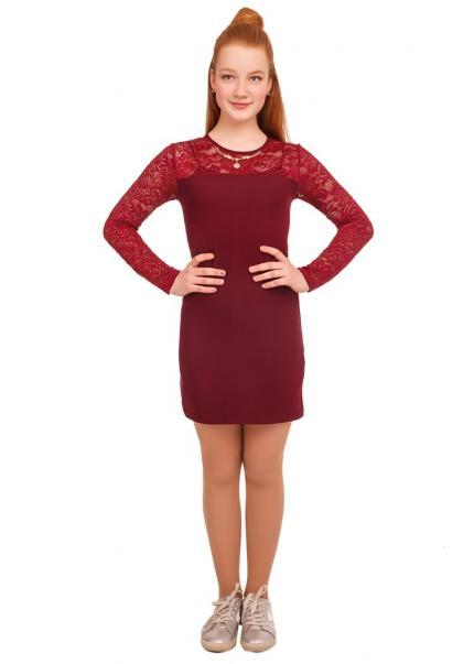 Платье Лиза, бордовый