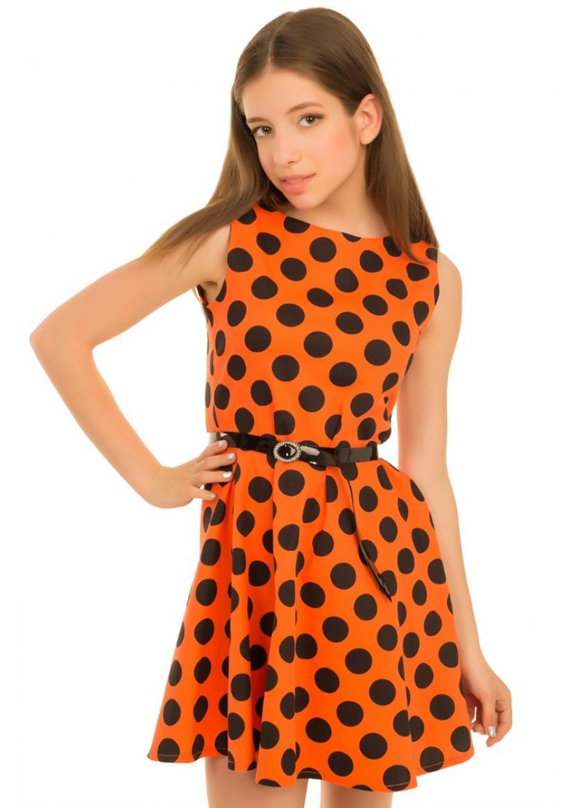 Платье Лика, оранжевый
