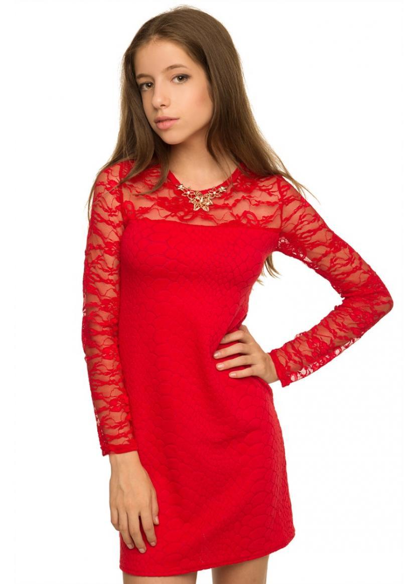 Платье Луиза, красный