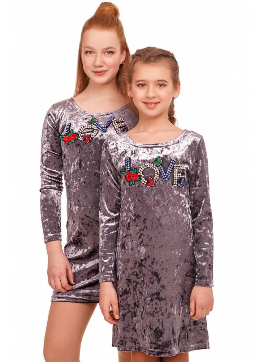Платье Мадлен, серый