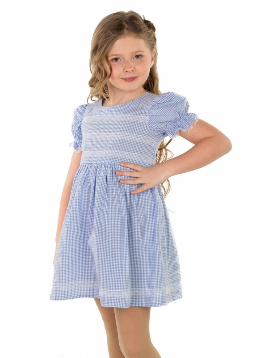 Платье Машенька, голубой