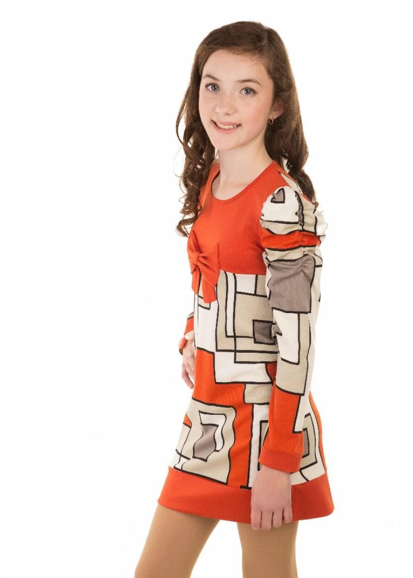 Платье Пазл, оранжевый