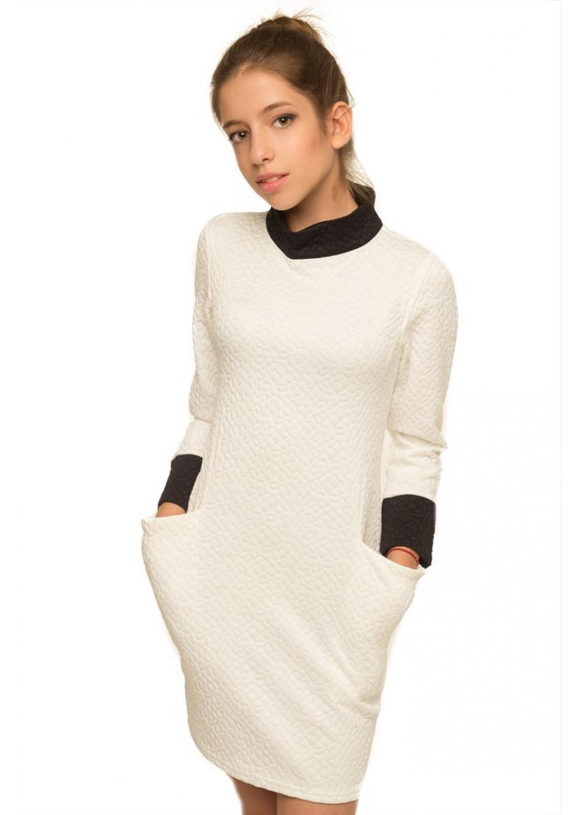 Платье Паула, молочный