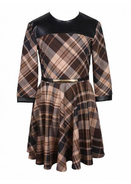 Платье Полли, коричневый