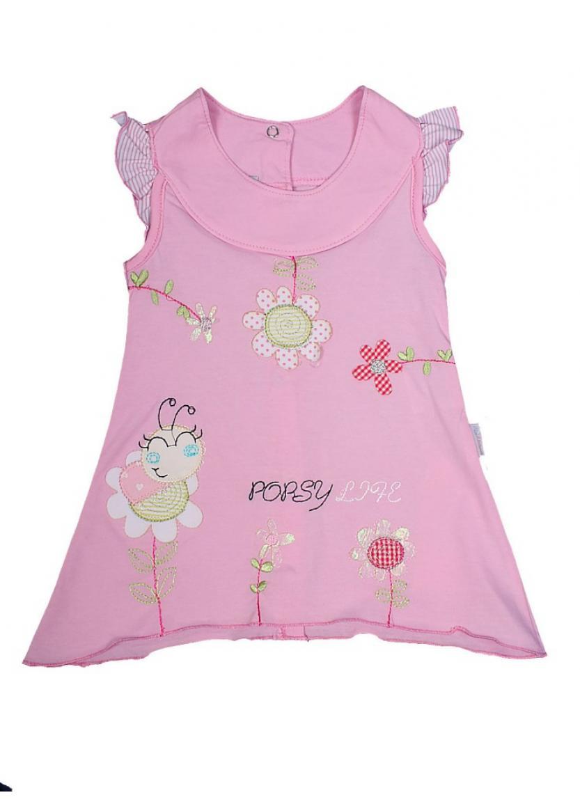 Платье Пчелка, розовый