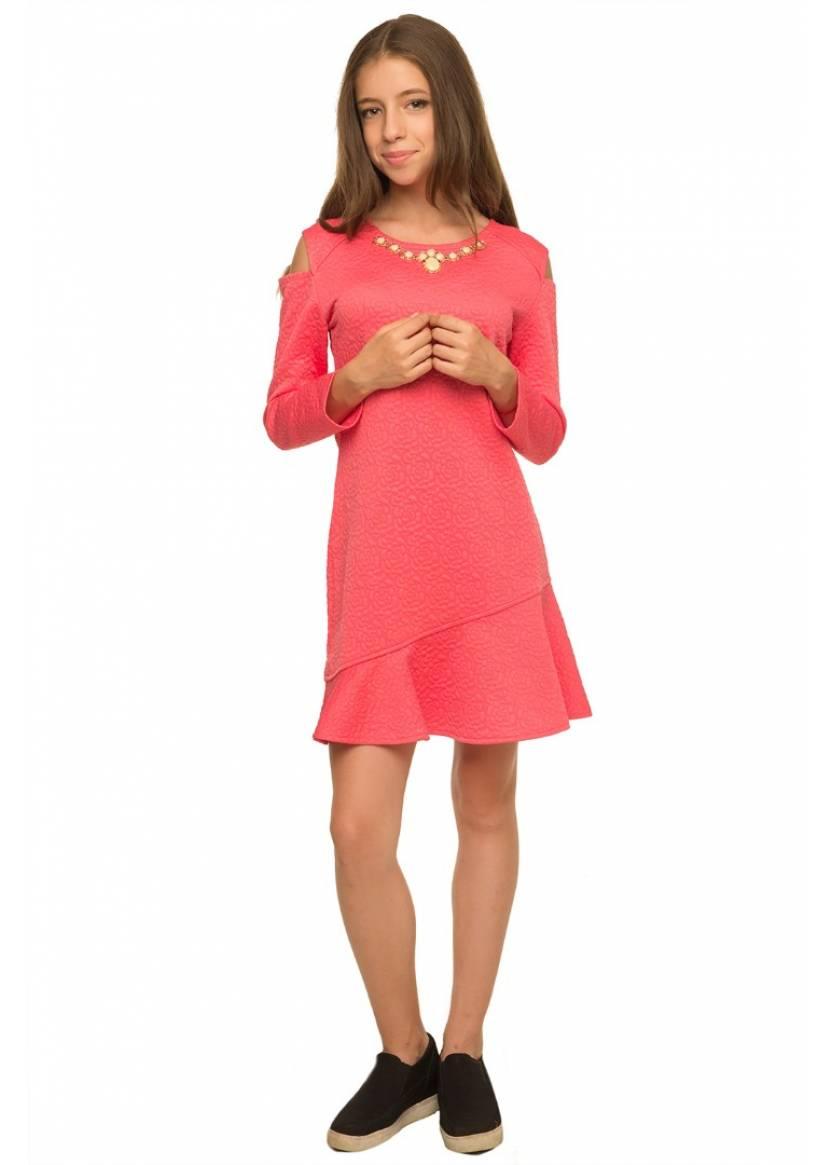 Платье Розалия, коралловый