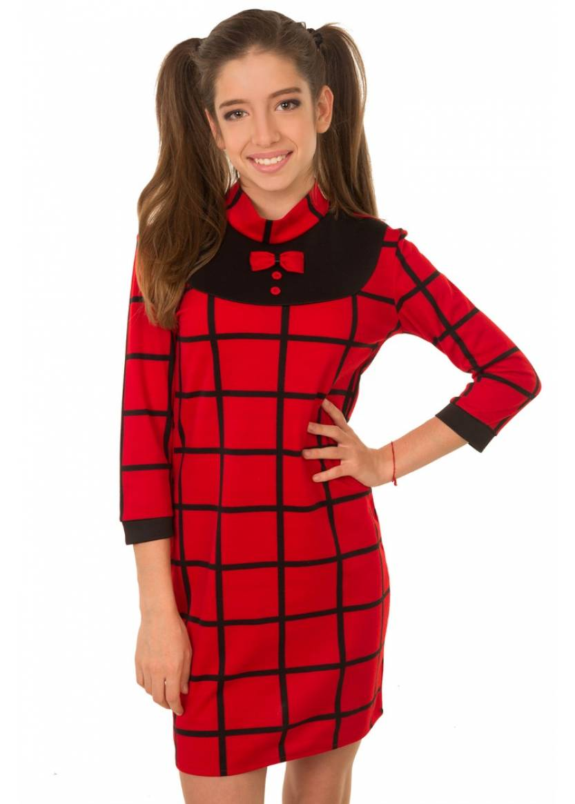 Платье Риана, красный