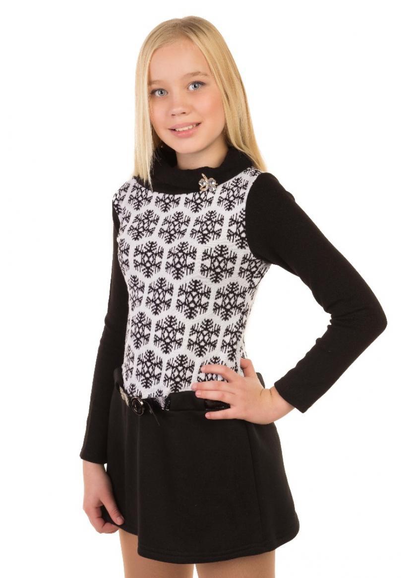 Платье Сноу, черный