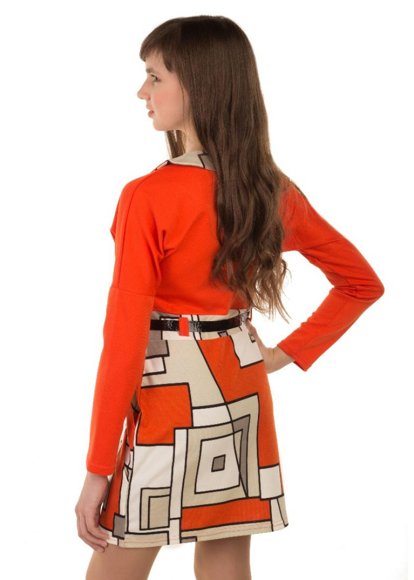 Платье Нюша, оранжевый