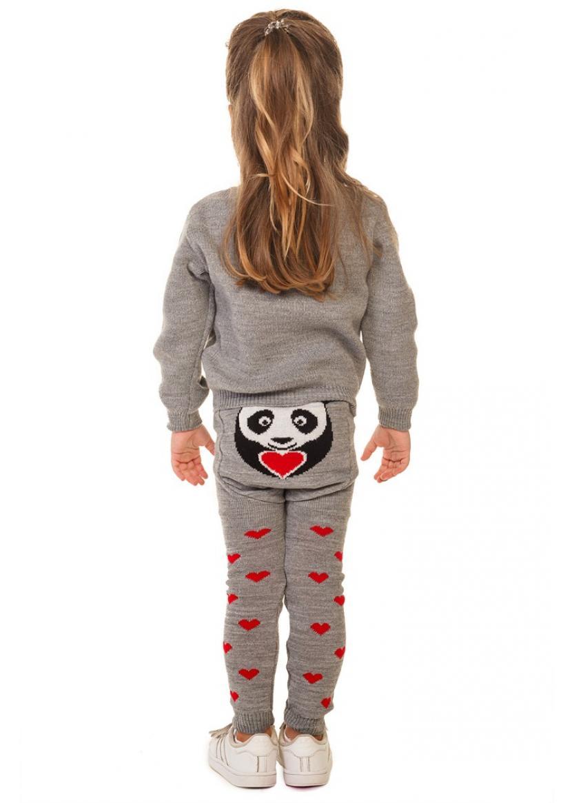 Свитер Литл панда, серый