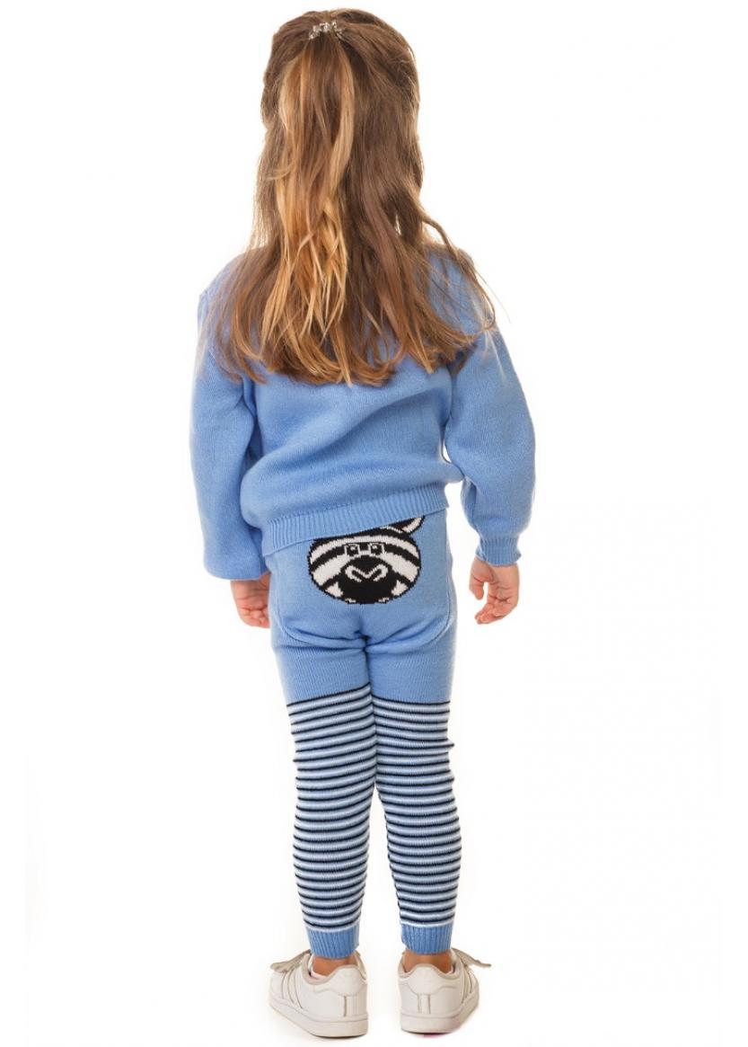 Свитер Литл зебра, голубой