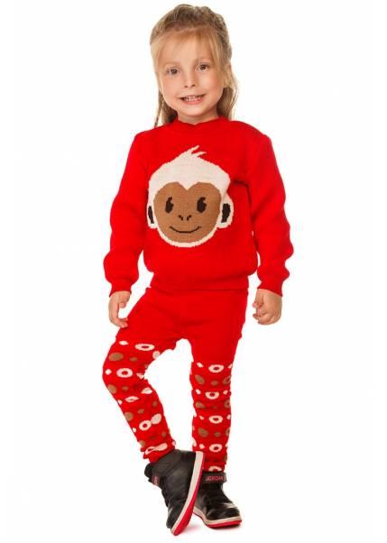 Свитер Литл обезьянка, красный
