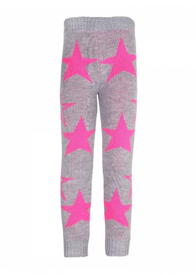 Гамаши Звезды неон, розовый