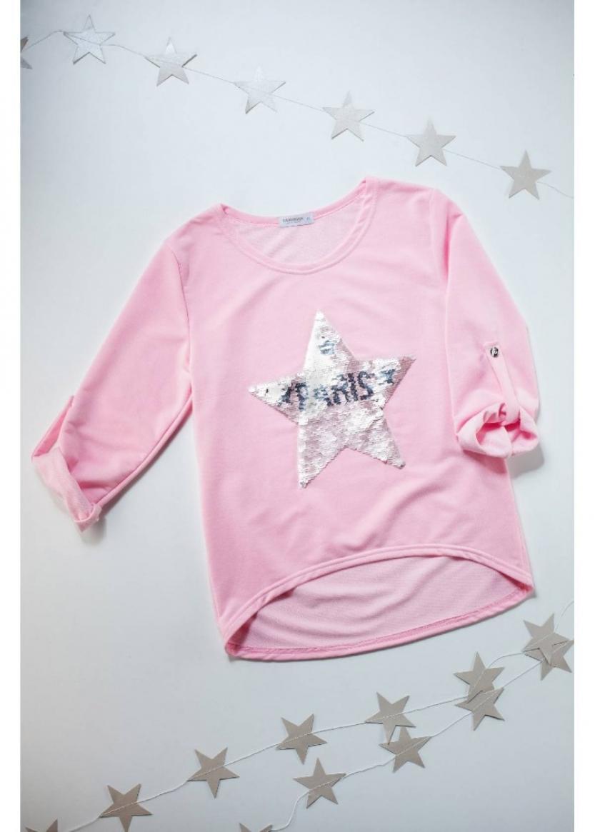 Лонгслив Звезда, розовый