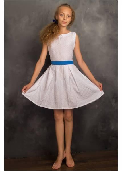 Платье Ромашка, голубой