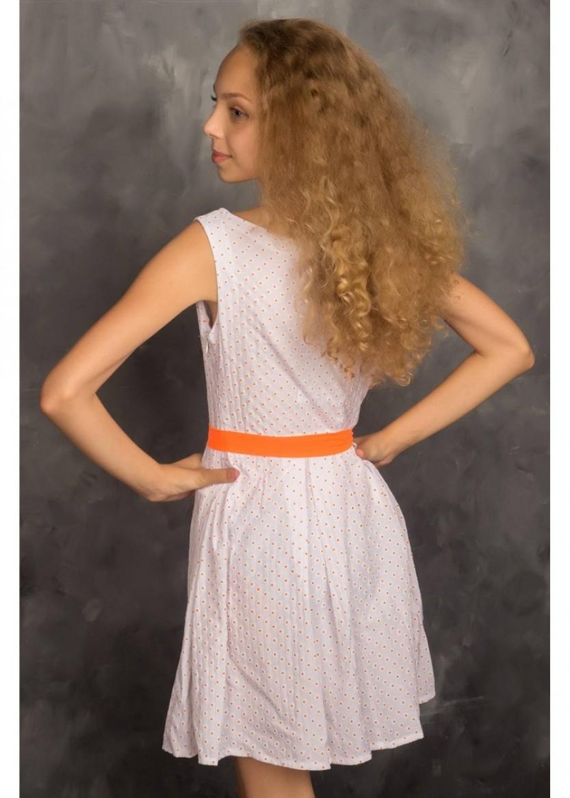 Платье Ромашка, оранжевый