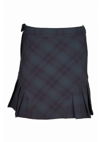 Юбка Шотландка, зеленый