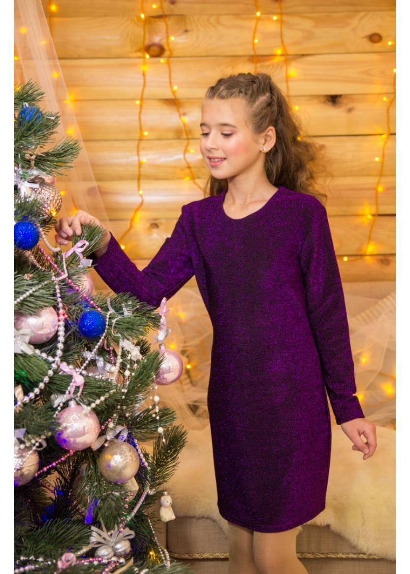 Платье Милада, фиолетовый