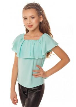 Блуза Ланита, бирюзовый