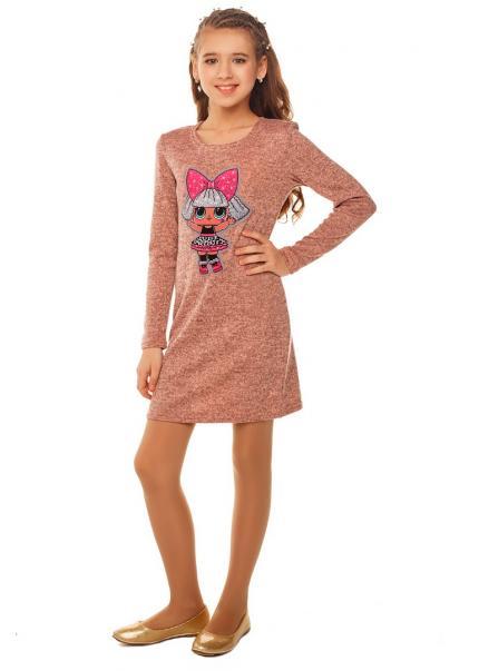 Платье Лола, персиковый