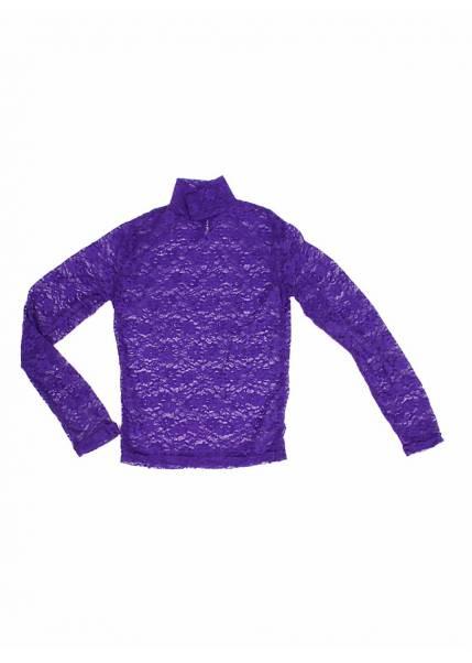 Гольф Гипюровый, фиолетовый