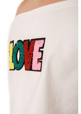Топ Love, белый