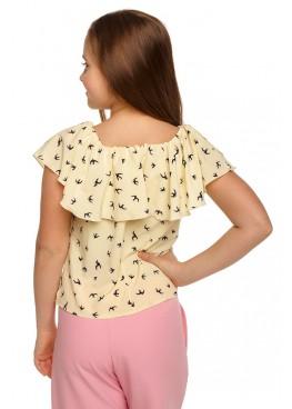 Блуза Пташка, желтый