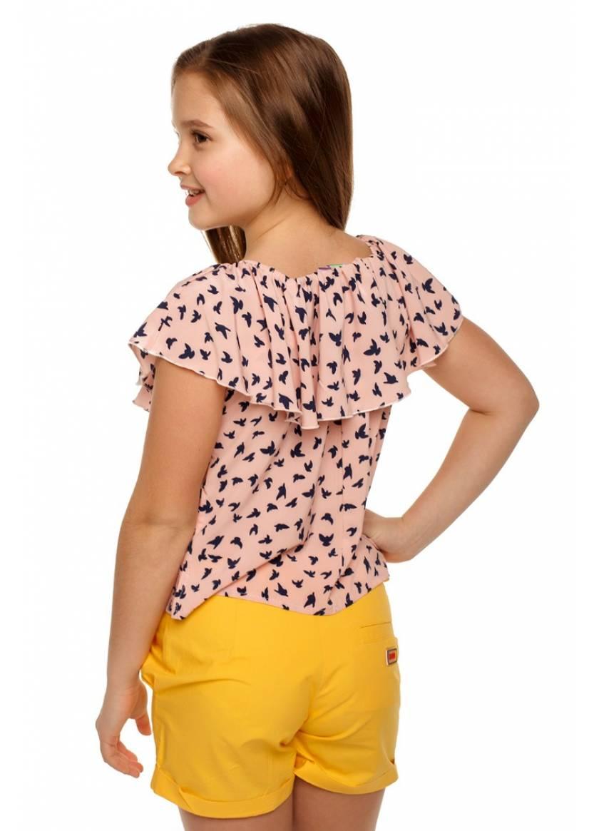 Блуза Пташка, розовый
