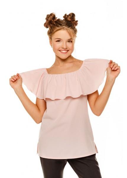 Блуза Ланита, пудровый