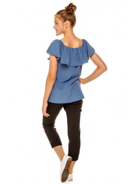 Блуза Ланита, джинсовый