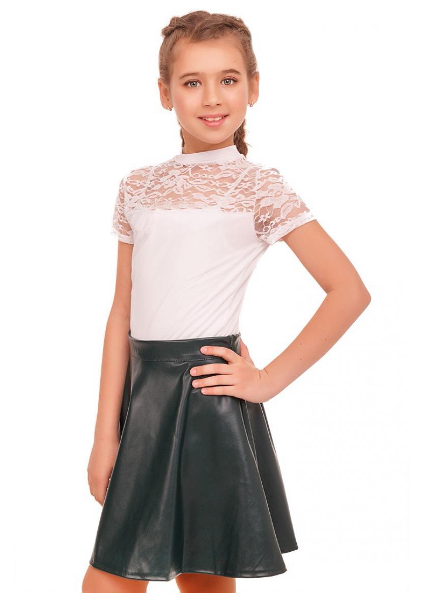 Блуза Лицей-гипюр к.р., белый