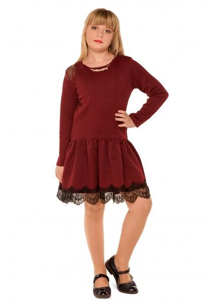 Платье Канкан, бордовый