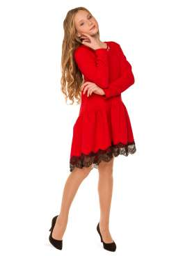 Платье Канкан, красный