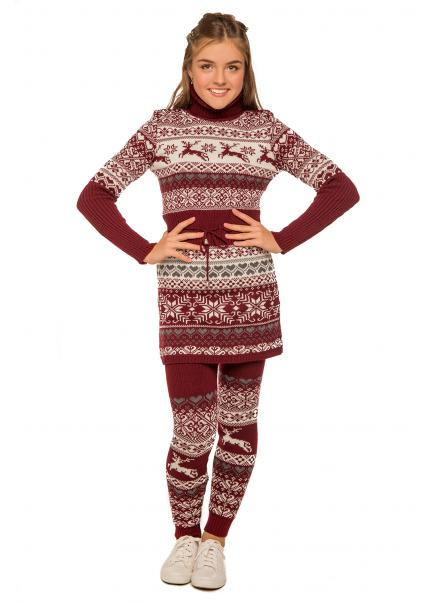 Платье Лапландия, бордовый