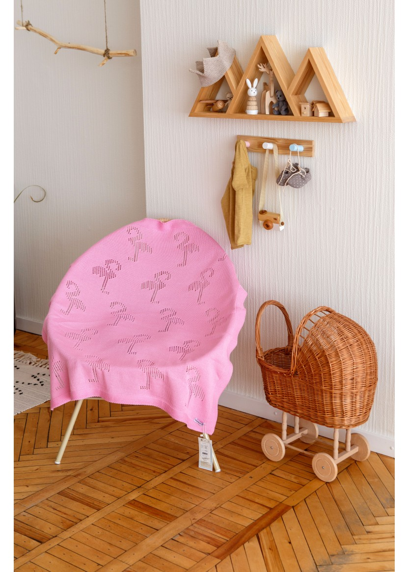 Плед Фламинго, розовый