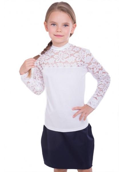Блуза Лицей-гипюр дл.р., белый