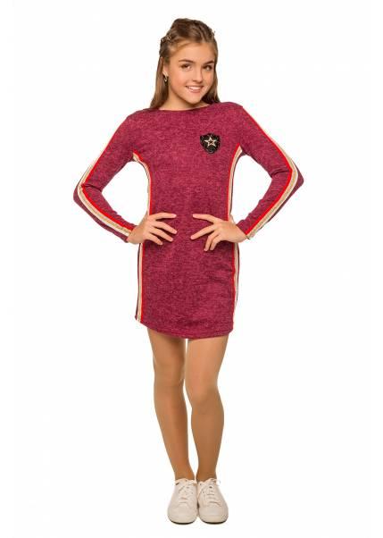 Платье Амина, бордовый