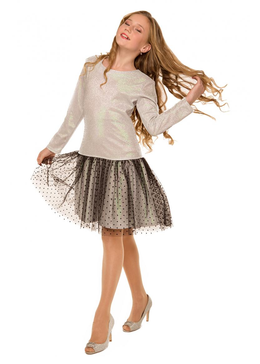 Платье Жизель, серебряный