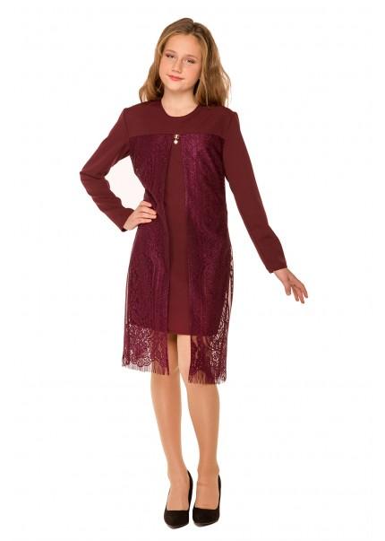 Платье Шерри, бордовый
